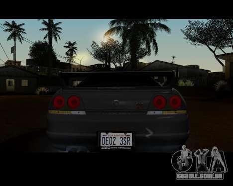 Nissan R33 GT-R Tunable para GTA San Andreas vista direita