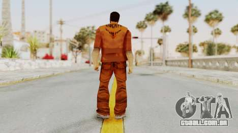 Claude Speed (Prision) from GTA 3 para GTA San Andreas terceira tela