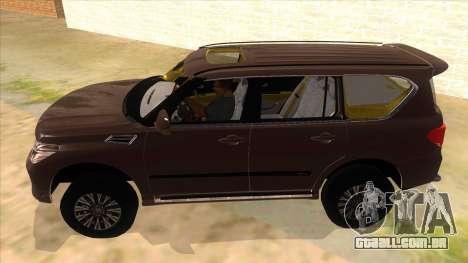 Nissan Patrol 2016 para GTA San Andreas esquerda vista