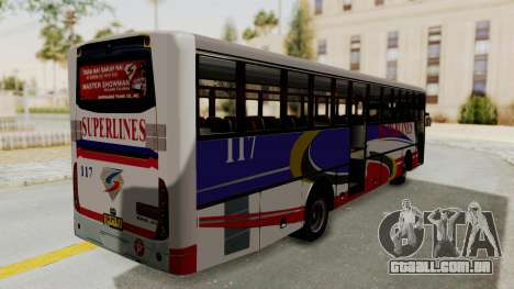 Superlines Ordinary Bus para GTA San Andreas vista direita