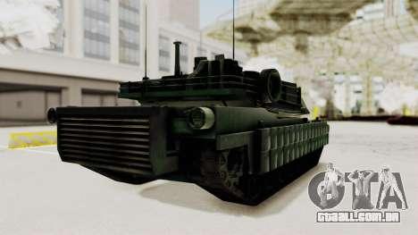 M1A2 Abrams Woodland Croatian para GTA San Andreas vista direita