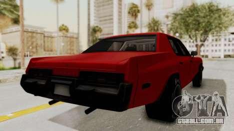 Dodge Monaco 1974 Drag para GTA San Andreas esquerda vista