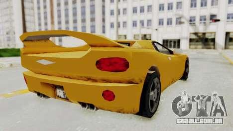 GTA 3 Infernus para GTA San Andreas esquerda vista
