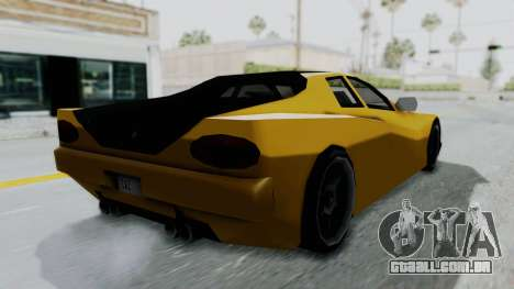 Cheetah ZTR v1 para GTA San Andreas esquerda vista