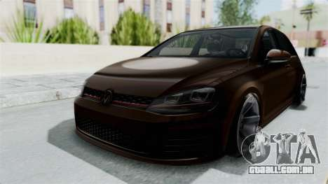 Volkswagen Golf 7 Stance para GTA San Andreas vista direita