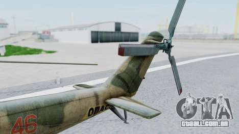 Mi-24V Russian Air Force 46 para GTA San Andreas traseira esquerda vista