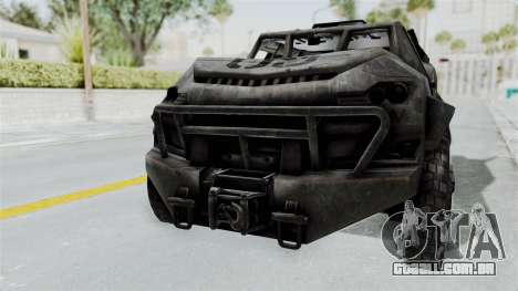 PITBULL from CoD Advanced Warfare para GTA San Andreas esquerda vista