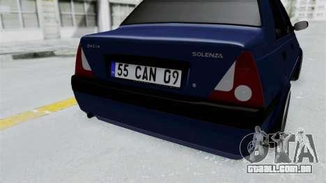 Dacia Solenza para GTA San Andreas vista traseira