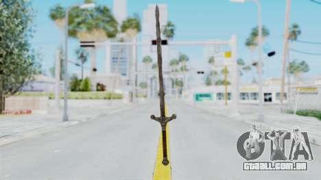 Skyrim Iron Claymore para GTA San Andreas segunda tela