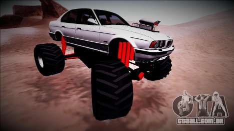 BMW M5 E34 Monster Truck para vista lateral GTA San Andreas