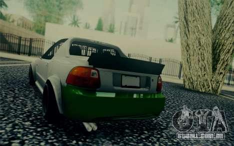 Honda Stance para GTA San Andreas traseira esquerda vista