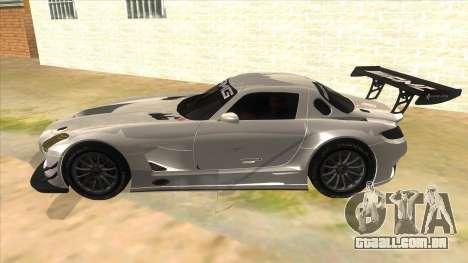 Mercedes Benz SLS AMG GT3 para GTA San Andreas esquerda vista