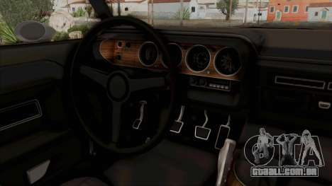 Dodge Challenger 1970 Monster Truck para GTA San Andreas vista interior