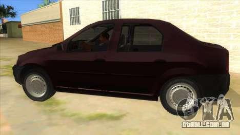 Dacia Logan V2 Final para GTA San Andreas esquerda vista