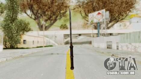 Skyrim Iron Tanto para GTA San Andreas terceira tela