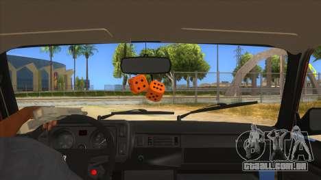 VAZ 2107 Enferrujado Gringo para GTA San Andreas vista interior