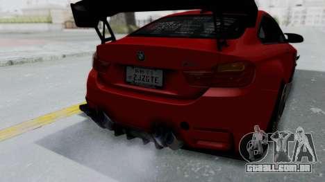 BMW M4 F82 Race Tune para GTA San Andreas vista interior