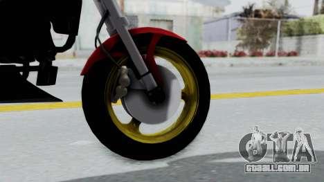 Ducati Monster para GTA San Andreas traseira esquerda vista