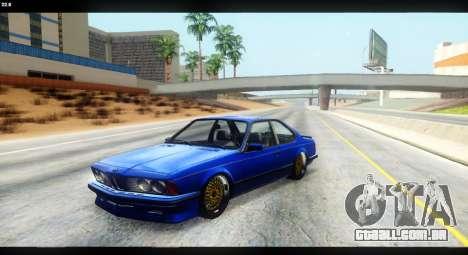 BMW M635 CSi (E24) para vista lateral GTA San Andreas
