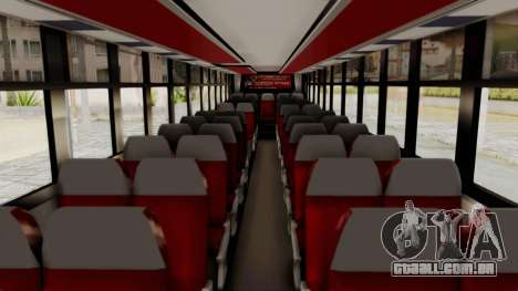 Superlines Ordinary Bus para GTA San Andreas vista interior
