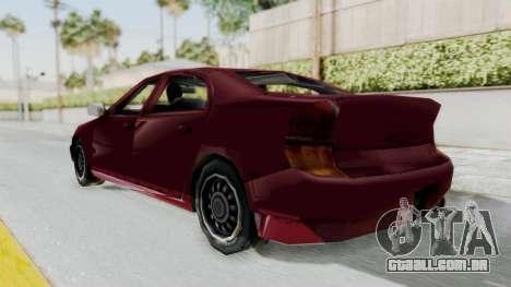 GTA 3 Kuruma para GTA San Andreas traseira esquerda vista