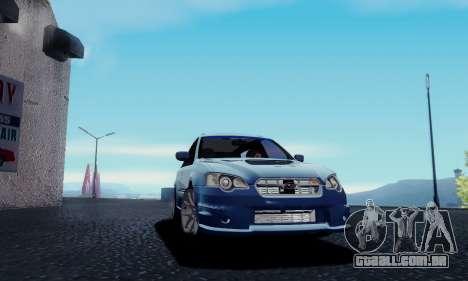 Subaru Legacy STi Wagon 2008 para GTA San Andreas traseira esquerda vista