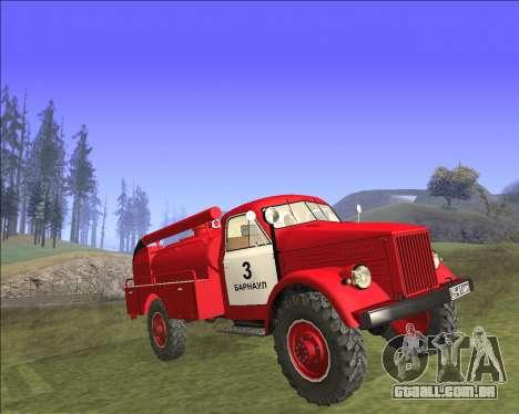 GAZ 63 de bombeiros para GTA San Andreas traseira esquerda vista