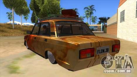 VAZ 2107 Enferrujado Gringo para GTA San Andreas traseira esquerda vista