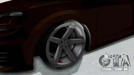 Volkswagen Golf 7 Stance para GTA San Andreas vista traseira