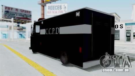 CCPD Boxville from Manhunt para GTA San Andreas esquerda vista