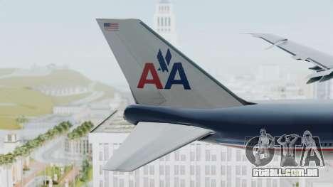 Boeing 747-200 American Airlines para GTA San Andreas traseira esquerda vista