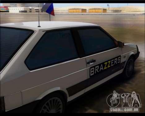 VAZ 2108 Militar Clássicos para GTA San Andreas traseira esquerda vista