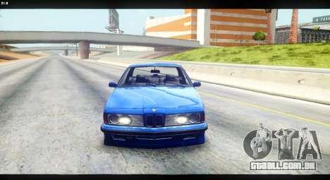 BMW M635 CSi (E24) para GTA San Andreas vista direita
