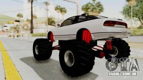 Nissan 240SX Monster Truck para GTA San Andreas traseira esquerda vista