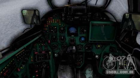 Mi-24V Ukraine Air Force 010 para GTA San Andreas vista traseira