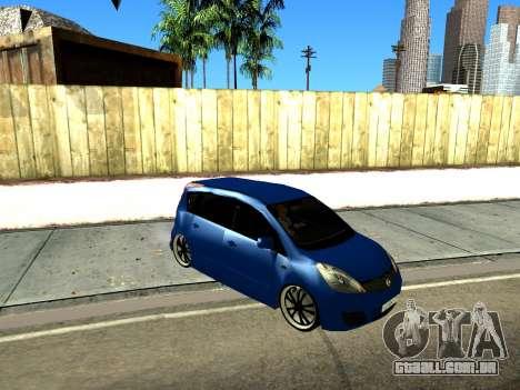 Nissan Note KURMIN StreetRacer para GTA San Andreas esquerda vista