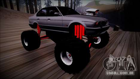 BMW M5 E34 Monster Truck para GTA San Andreas vista interior