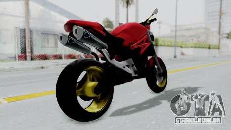 Ducati Monster para GTA San Andreas esquerda vista