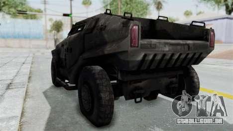 PITBULL from CoD Advanced Warfare para GTA San Andreas vista direita