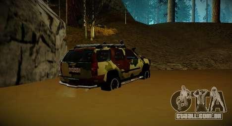Chevrolet Tahoe LTZ v2 Camofluge para GTA San Andreas esquerda vista