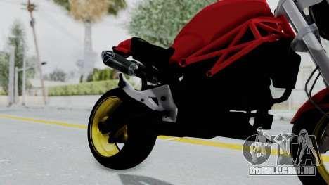 Ducati Monster para GTA San Andreas vista direita