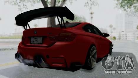 BMW M4 F82 Race Tune para GTA San Andreas esquerda vista