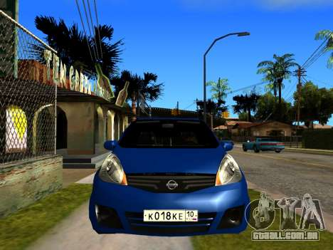 Nissan Note KURMIN StreetRacer para GTA San Andreas vista direita
