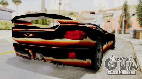 GTA 3 Diablos Infernus para GTA San Andreas traseira esquerda vista