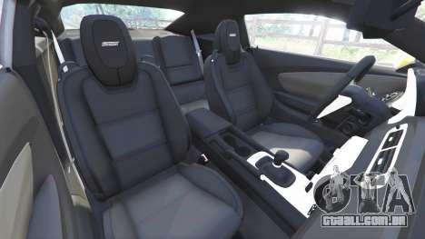 GTA 5 Chevrolet Camaro SS 2014 v1.1 vista lateral direita