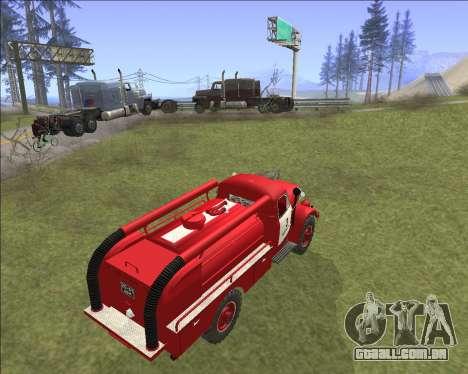 GAZ 63 de bombeiros para GTA San Andreas vista traseira