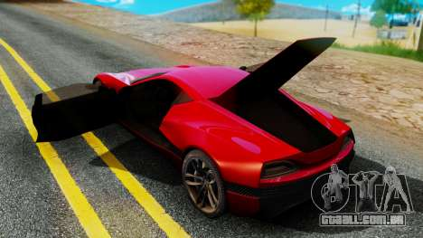 Rimac Concept One para GTA San Andreas traseira esquerda vista
