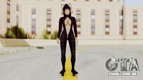 DoA5 LR Nyotengu Black Leather para GTA San Andreas