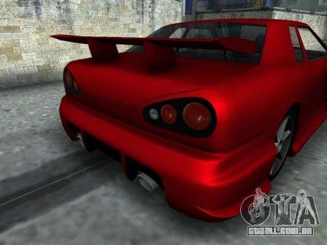Elegy PFR v1.0 para GTA San Andreas vista traseira