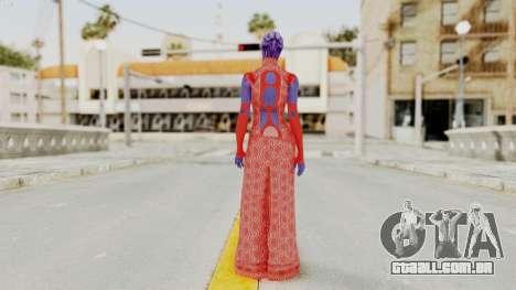 Mass Effect 3 Aria TLoak Dress para GTA San Andreas terceira tela